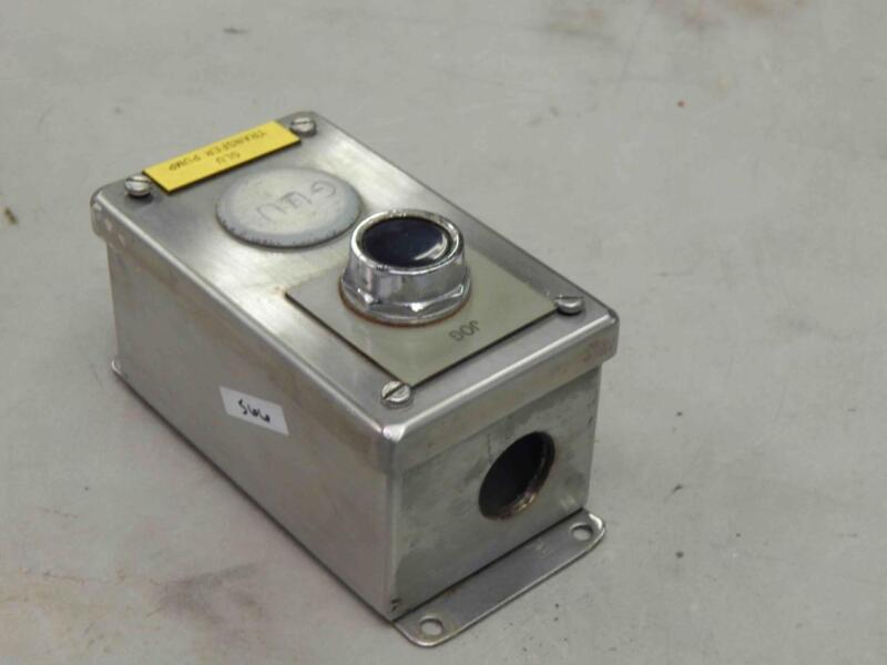 Hoffman Furnas 52pa8 Stainless Enclosure Control Station Oil Tight Black Pb