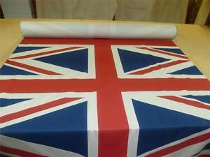 UNION JACK FLAG - Designer Print Cotton Blend Fabric (Sold in Panels of 1 Flag)