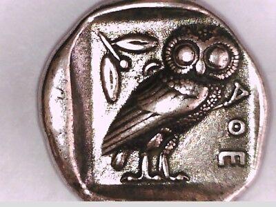 Griechenland Griechische Athen Tetradrachm Athene Eule Silber überzogenes Münze