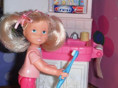 Barbie Crest Toothpaste Brush Lot fits Fisher Price Loving Family Dollhouse Doll