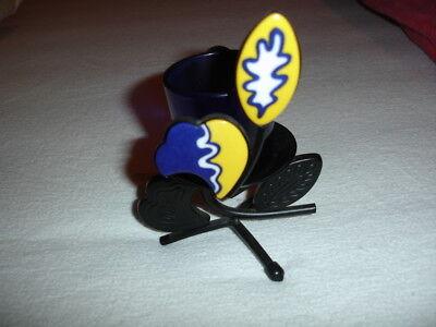 "Partylite Kerzenhalter ""Provence"" Metall-Keramik, gelb-blau"