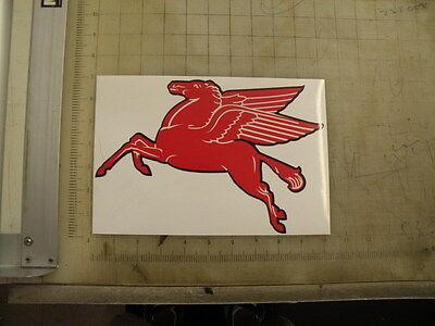 "Vintage Mobil Pegasus Gasoline sticker 10""x6.7"""