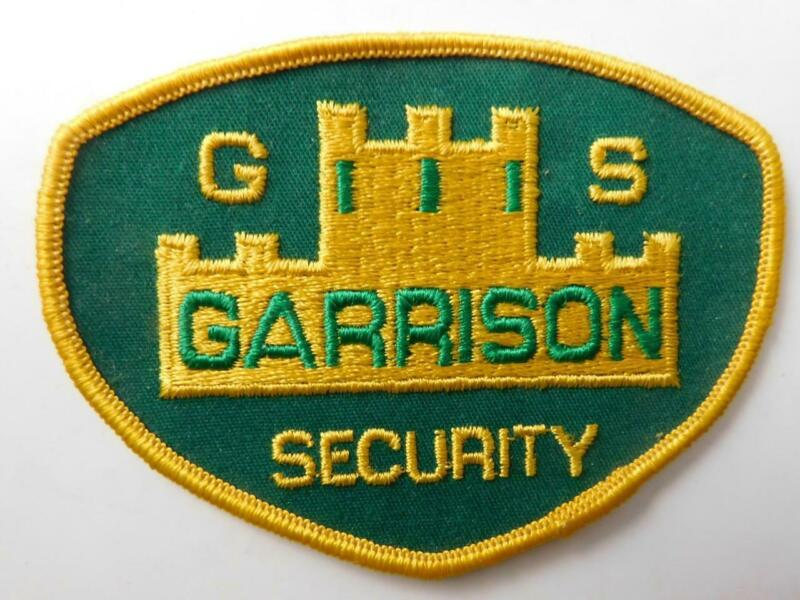 GARRISON GS SECURITY GUARD OFFICER VINTAGE PATCH BADGE UNIFORM CREST POLICE