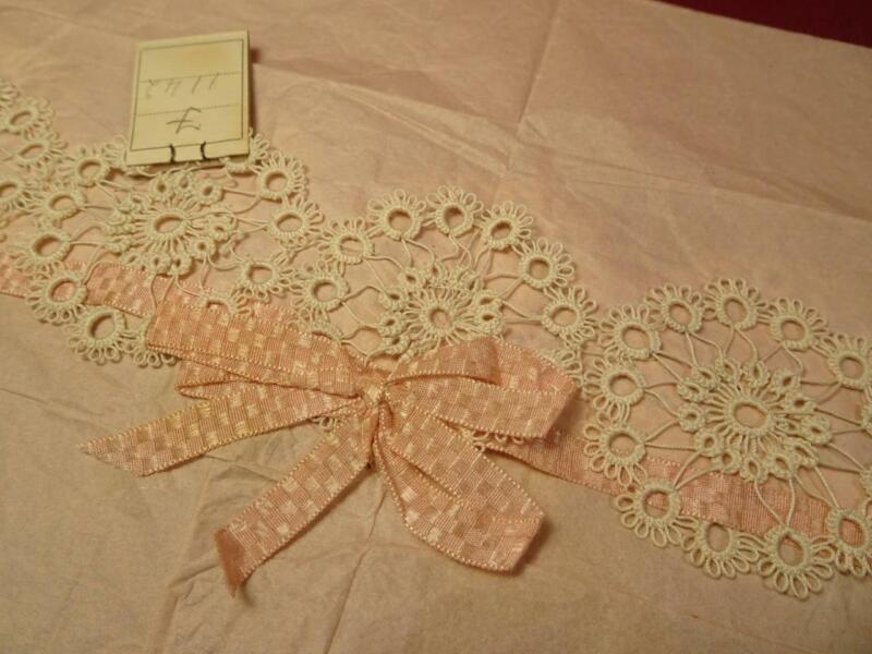VINTAGE ANTIQUE TATTED LACE TRIM IVORY COLOR UNUSED COLLAR?