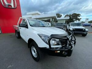 2017 Mazda BT-50 UR0YG1 XT Cool White 6 Speed Manual Cab Chassis