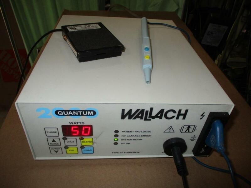 Wallach Quantum 2000 Electrosurgery with foot switch & pencil