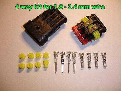 4way AMP Superseal 1.5 Series Waterproof Sealed Connector Kit