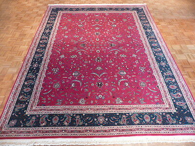 9 X 12 Hand Knotted Hot Pink Fine Persian Kashan Design Rug G382 (Hot Pink Carpet)