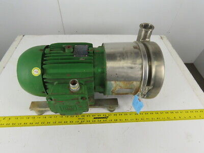 Tri-clover C218md18t-s 3x2 Stainless Steel Sanitary Pump 5hp 208-230460v 3ph