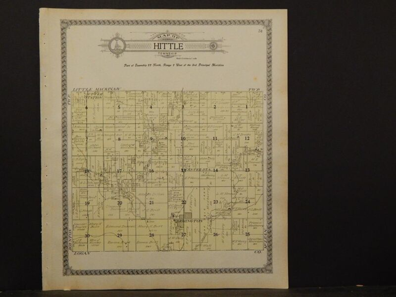 Illinois, Tazewell County Map, 1910, Hittle Township, P5#29