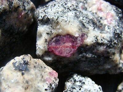 Natural  RUBY IN MATRIX - 2000 CARAT Lots - Ruby Crystals Gemstones + Free Items
