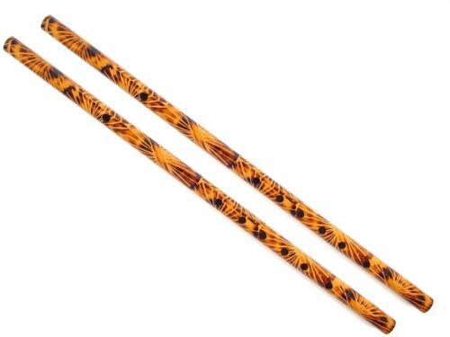 Set of 2 Polished Cane Flutes Dizi, Key of C and D