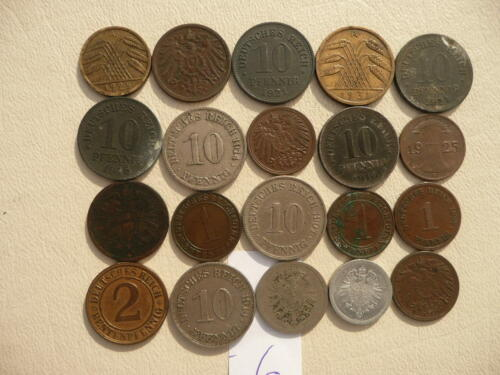 Lot of 20 Germany Coins - Empire and Weimar - Lot 6
