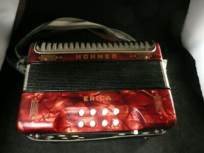 Pearl Red Erica Two-Row Accordion