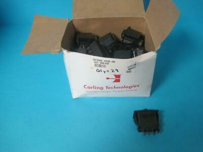 New Box Of 28 Carling Technologies Rocking Switch Body 1540 R Vod2 20a 12v