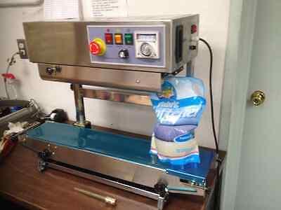 Frd-1000sv Vertical Stainless Steel Band Sealer Solid-ink Coder Machine