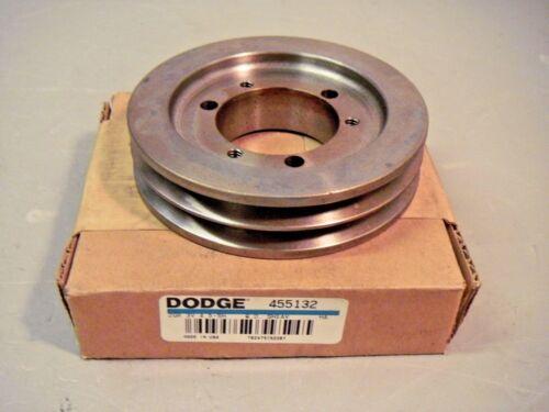 "Dodge 455132 Sheave 2 Groove 3V QD 4.5"" Pulley Max RPM = 5680"