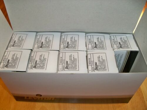 Lot of 9 Leviton Decora 15 Amp 120-Volt/277-Volt Rocker Switch White 5634-W