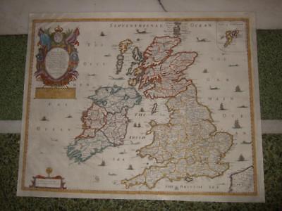1669,R.BLOME RARE!XL-BRITISH ISLES,BRITAIN,ENGLAND WALES SCOTLAND,IRELAND,LONDON