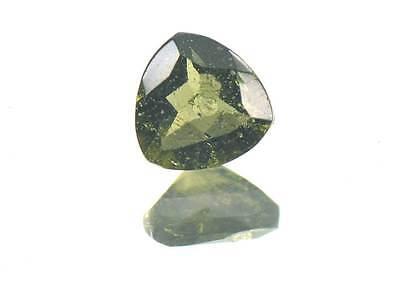0.56cts TRIGON standart cut 6mm moldavite faceted cutted gem BRUS1232