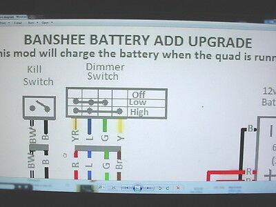 Yamaha Banshee stator battery ugrade wiring diagram engine motor lights