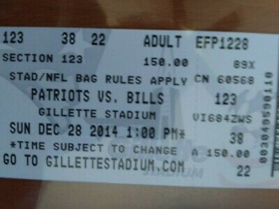 2014 NFL new england PATRIOTS BUFFALO BILLS FOOTBALL TICKETs  TOM BRADY lot of 2