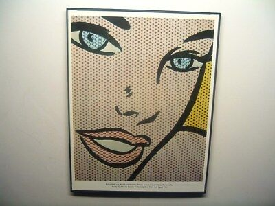 "FRAMED 8.5""x11"" vintage art print ""Girl at Piano"" (detail) 1963 Roy Lichtenstein"