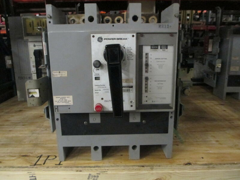 Ge Powerbreak Tpr5616 1600a 3p 600v Mo/do Circuit Breaker W/ Shunt Used E-ok