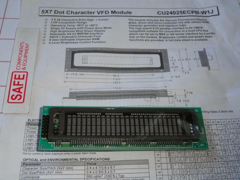Noritake itron CU24025ECPB-W1J Dot Character VFD Blu-Grn Display 5V LCD D41-3