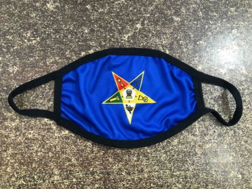 MASONIC OES BLUE FACE MASK, Fraternity, ORDER OF EASTERN STAR FACE MASK