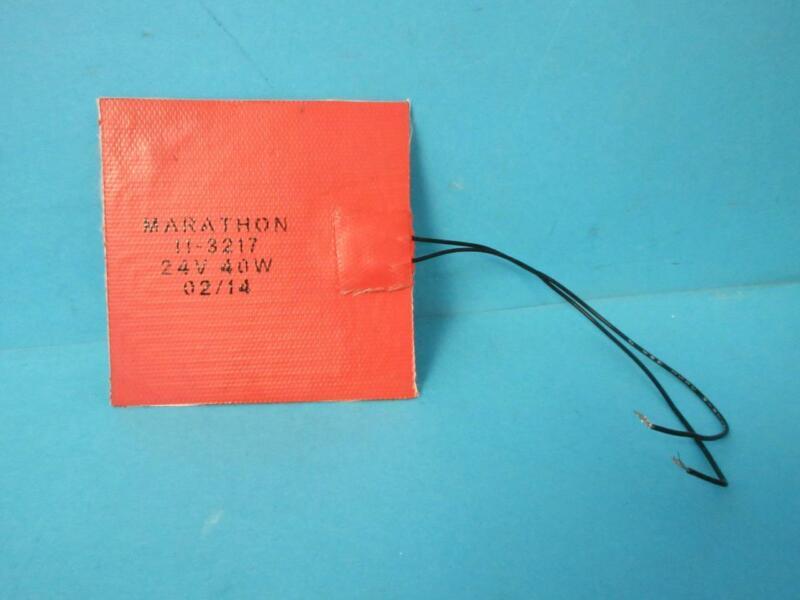 "BRAND NEW MARATHON 11-3217 24V 40W 02/14 4"" X 4"" SQUARE HEATING PAD HEATER"