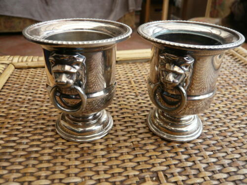 VINTAGE PAIR VINERS SILVER P. BAR WARE CHAMPAGNE BUCKET COCKTAIL STICK HOLDERS