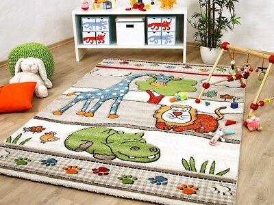 a Kids Lustige Zoowelt Beige (Lustige Teppiche)