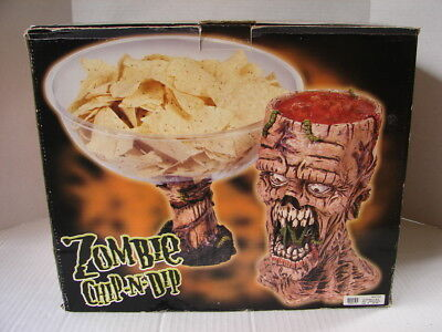 NEW Zombie Chip Dip Bowl Halloween Party Prop For Serving Food The Walking Dead](Zombie Food For Halloween Party)