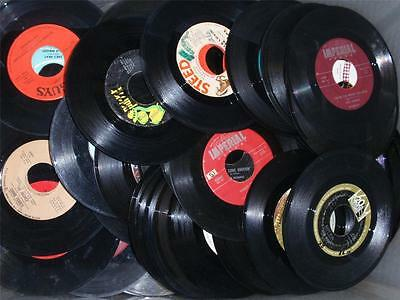 "45 RPM 7"" Records For Crafting LOT of (50) 50's-60's-70's PARTY DECOR-WON'T PLAY"