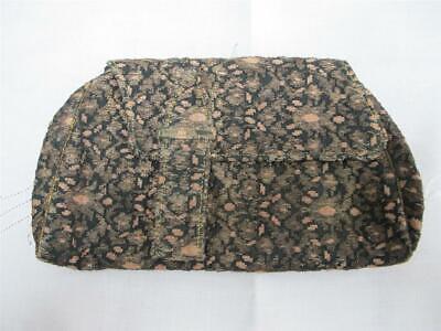 1920s Style Purses, Flapper Bags, Handbags Vintage 1920s Bag Purse Clutch Art Deco Black Gold Pink Woven Lame Ladies 20s $45.44 AT vintagedancer.com