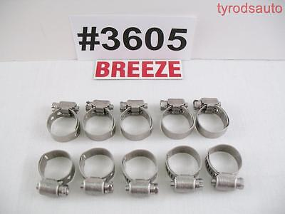 Breeze 3605 All Stainless Steel Liner Clamp 17mm 1116 Silicone Hose Fuel Line