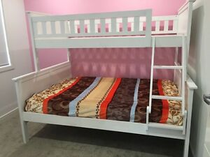 Jake Single over double bunk bed white Capalaba Brisbane South East Preview