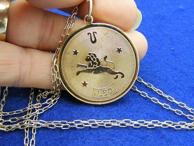 28 Nordstrom Leo Horoscope Sign Zodiac Pendant Necklace Goldtone 36  Long
