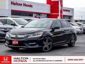 2016 Honda Accord SPORT SERVICE HISTORY ON FILE NO ACCIDENTS