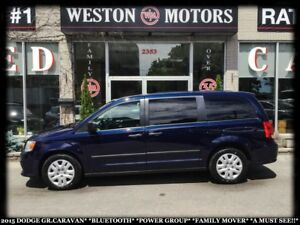 2015 Dodge Grand Caravan BTOOTH*PWR GRP*FAMILY MOVER!!*A MUST SE