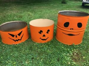 Repurposed barrels outdoor Decor