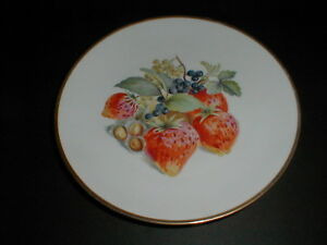 baronet china eschenbach bavaria germany strawberry salad plate loc h10. Black Bedroom Furniture Sets. Home Design Ideas