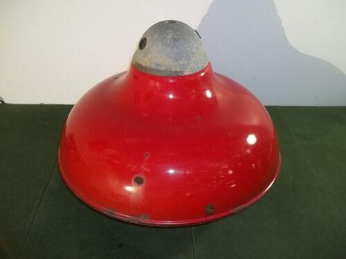 """REVERE Red Porcelain Garage Service Gas Station Light Shade 20"""" #2"""