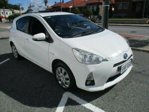 2014 Toyota Prius c NHP10R E-CVT White 1 Speed Constant Variable Hatchback Hybrid West Perth Perth City Area Preview