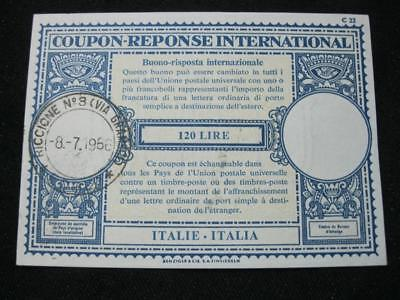 ITALY INTERNATIONAL REPLY COUPON USED