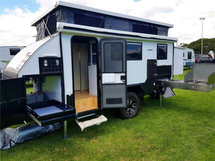 Almost Brand New Hybrid Caravans 15ft with bunk bed for sale