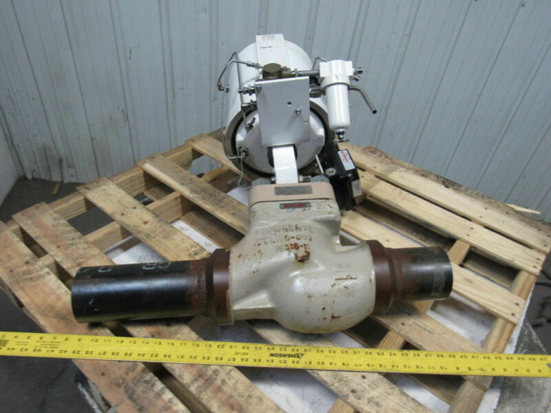 """Flowserve Mark-One 4"""" Carbon Steel Actuated Control Valve Assembly"""