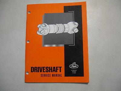 Mack Trucks Factory Shop Repair Service Master Manual - Driveshaft  11-101 ()