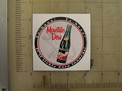"""Vintage Mountain Dew sticker decal 3"""" diameter"""
